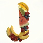 Fruit Forming the Letter J