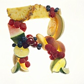 Fruit Forming the Letter R