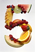 Fruit Forming the Number 5