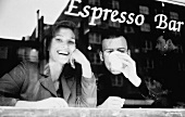 Man and Woman at an Espresso Bar