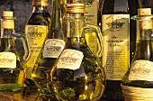 Several Bottles of Extra Virgin Olive Oil