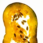 Slice of a yellow pumpkin
