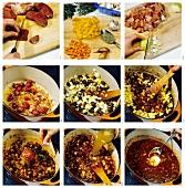 Making fiery paprika goulash