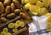 Whole potatoes, peeled potatoes & potato slices