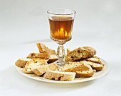 Cantuccini e Vin Santo (almond biscuits), Tuscany, Italy