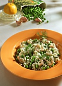 Rice Dish with Shrimp and Peas