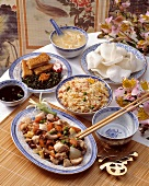 A Table Filled with Chinese Cuisine