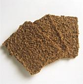 Norwegian bran bread, three slices