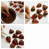 Making strawberry ladybirds