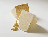 Two pieces of Pecorino Romano Gold (Italian hard cheese)