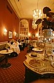 View into Vienna coffee house (Café of Hotel Sacher, Vienna)