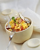 Mango & coconut curry with chick peas & vegetables