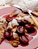 Emperor's pancake with plum compote
