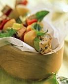 Vegetable and tofu kebabs