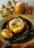Cipolle ripiene al risotto (Onion stuffed with mushroom risotto)