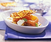 Potato Waffles with Lox and Sour Cream