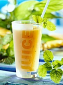 Orange Smoothie Flavored with Mint