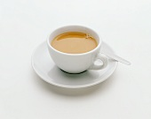 Cup of white coffee