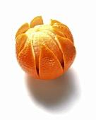 Orange peeled in shape of a star