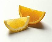A Lemon Wedge and and Orange Wedge