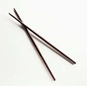 Two brown chopsticks