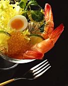 Shrimp and Caviar Salad