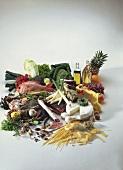 Grosses Lebensmittelstilleben