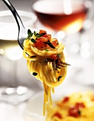 Spaghetti Twirled onto a Fork