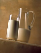 A Glass and a Pitcher of Milk