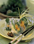 Salmon Wrapped in Rice Paper