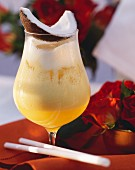 Pina Colada with a Slice of Coconut