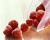 Frozen Strawberries; Freezer Bag