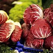 Radicchio di Treviso and radicchio di Chioggia at market