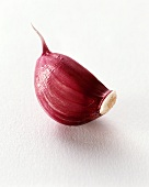 Garlic clove with red skin