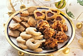 Christmas biscuit plate