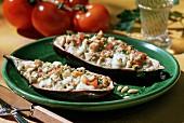 Melanzane ripiene e gratinate (baked aubergines)