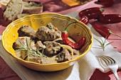 Agnello alla molisana (lamb goulash), Molise, Italy