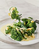 Broccoli with almond sauce