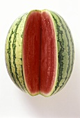 Eine Wassermelone, angeschnitten