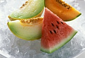 Melon Slices on Ice