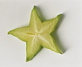 A starfruit (carambola) cross section