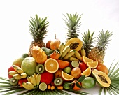 Exotic fruits in a heap