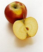 A whole apple and half an apple