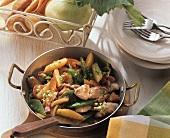 Vegetable stir-fry with turkey
