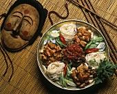 Cheongol (Koreanischer Fleisch-Nudel-Teller mit Gemüse)