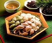 Songpyon (Koreanische gefüllte Teigtäschchen)