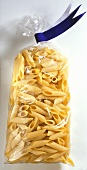 Penne in cellophane packaging