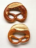 Two salt pretzels