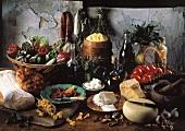 Still Life of Italian Foods