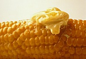 Corn on the Cob Close Up with Melting Butter